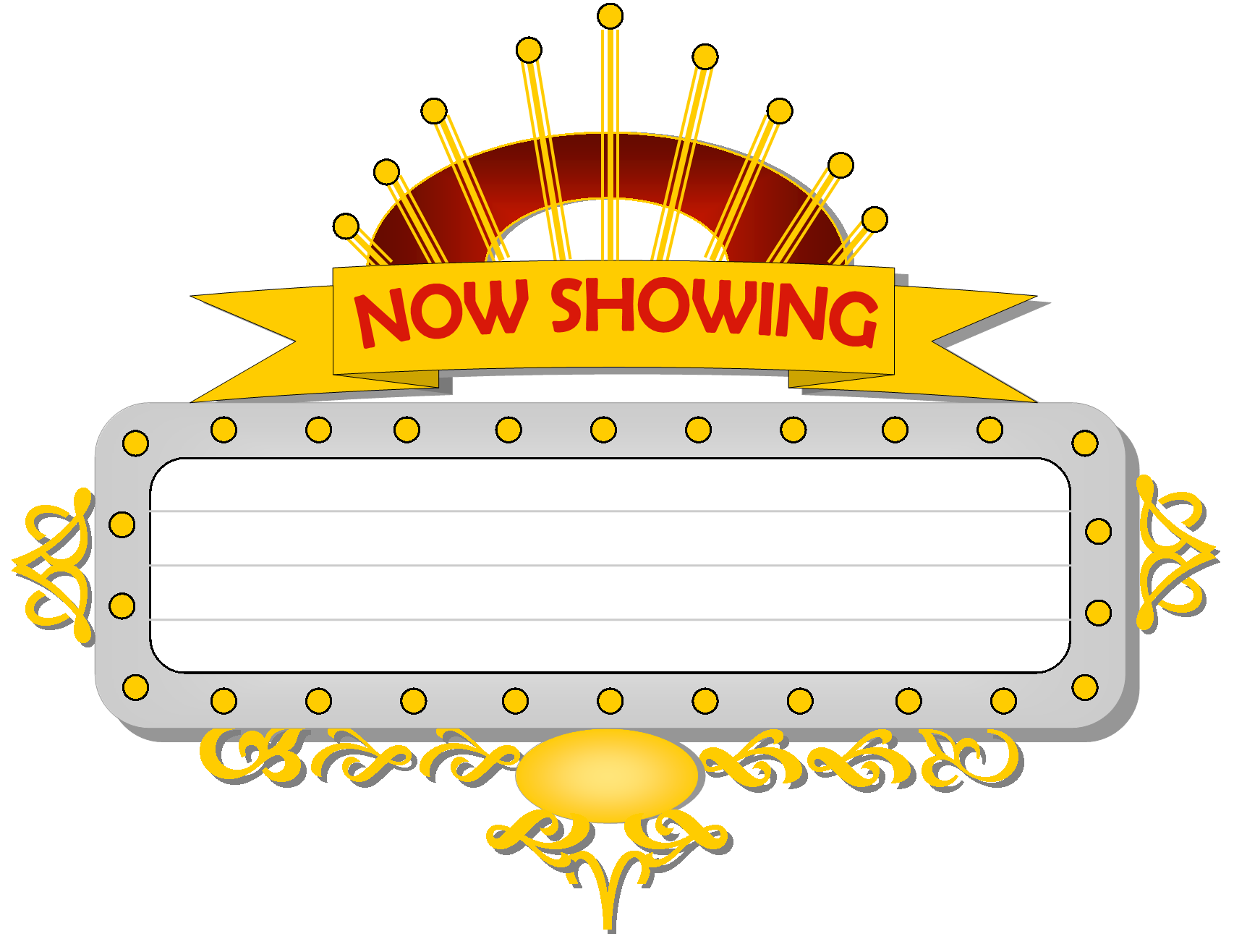 Movie Theater Marquee Clipart.