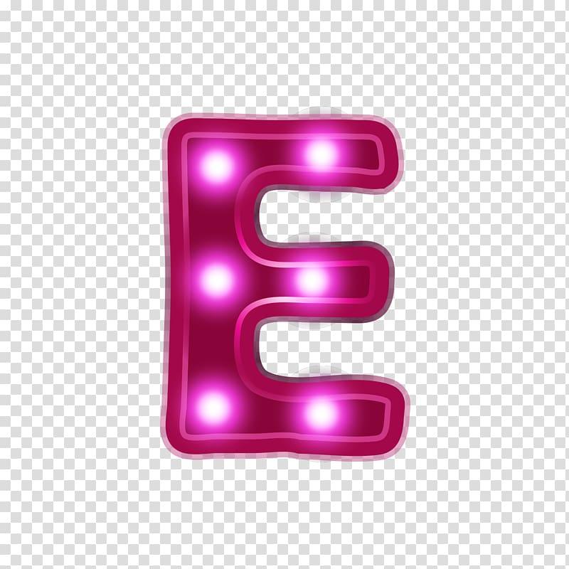 E letter marquee light , Letter Alphabet Neon, Red neon.