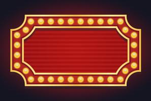 Marquee Lights Free Vector Art.