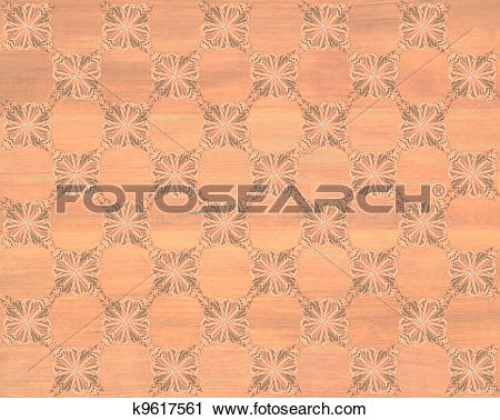 Clipart of Faux Wood Marquetry #15 k9617561.