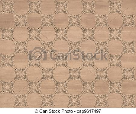 Stock Illustrations of Faux Wood Marquetry #5.