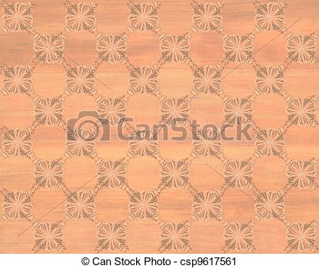 Clipart of Faux Wood Marquetry #15.