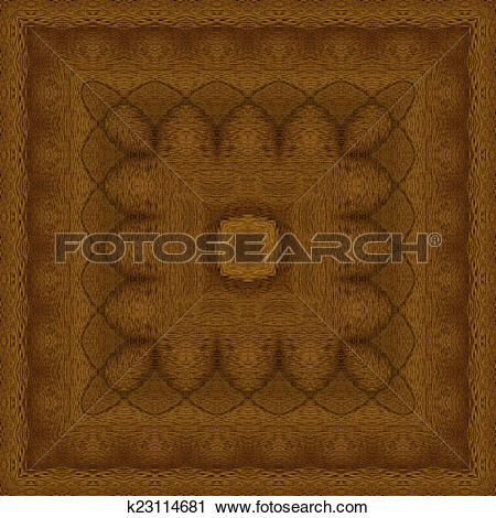 Clipart of Seamless pattern, wooden marquetry k23114681.