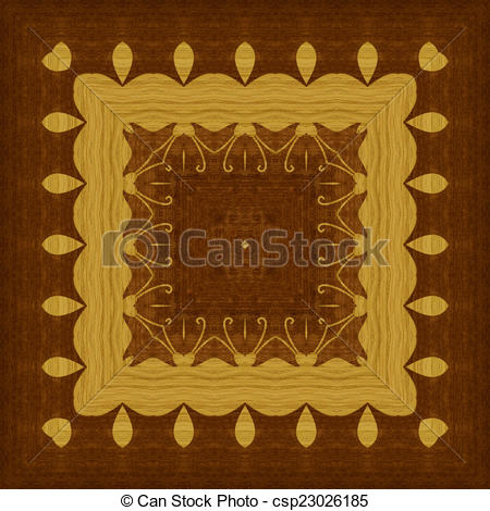 Stock Illustration of Seamless pattern, wooden marquetry.