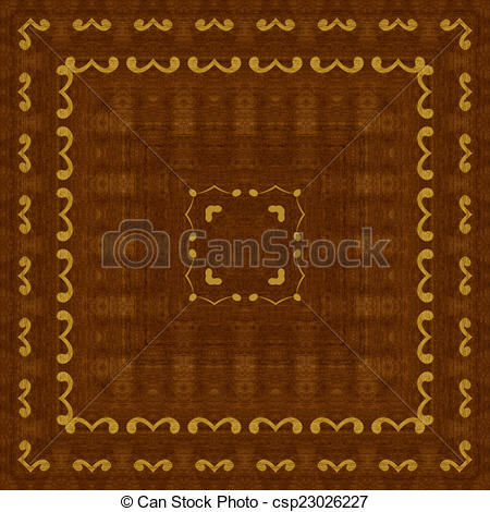 Clip Art of Seamless pattern, wooden marquetry.