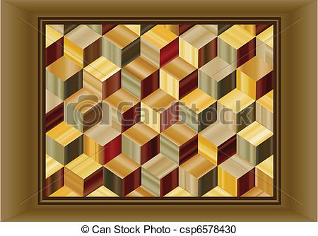 Vector Clipart of Marquetry.