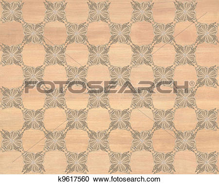 Stock Illustrations of Faux Wood Marquetry #14 k9617560.