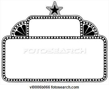 Broadway Lights Border Clipart broadway marque...