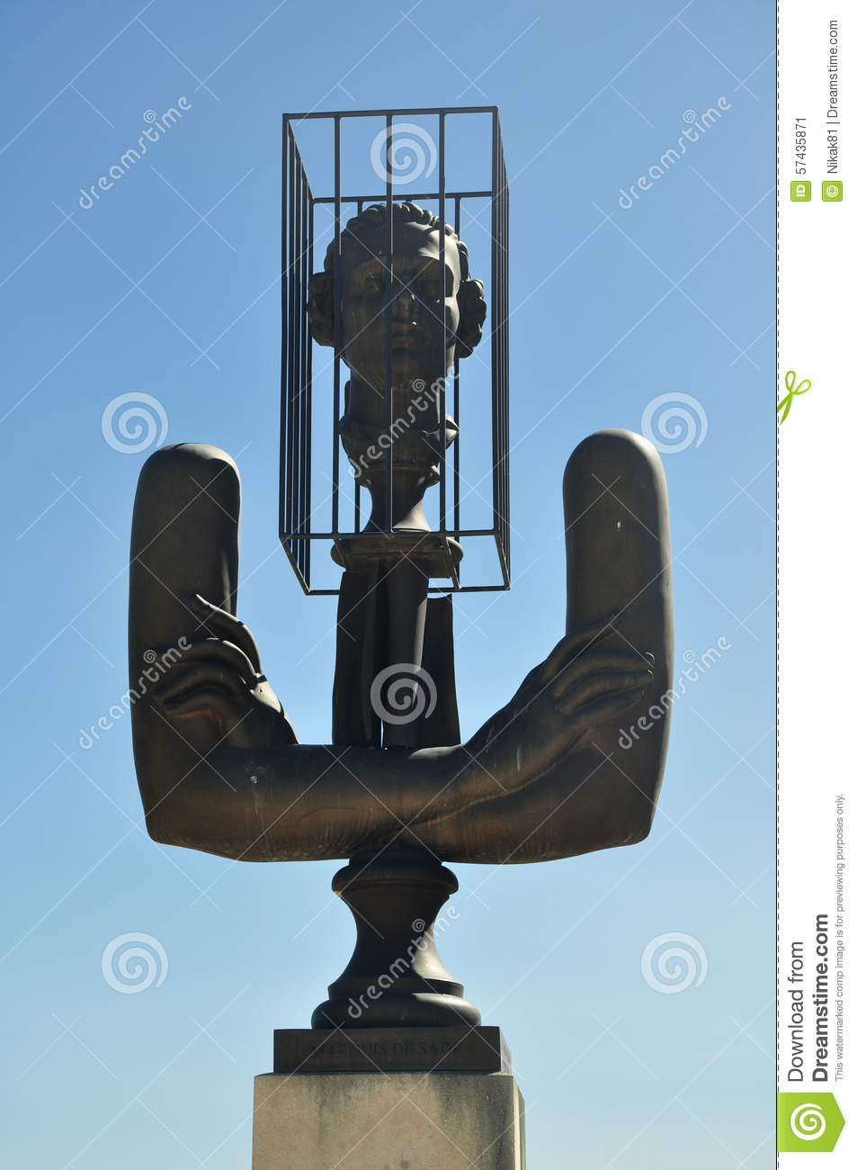 Monument To The Marquis De Sade In Lacoste. Provence. France Stock.