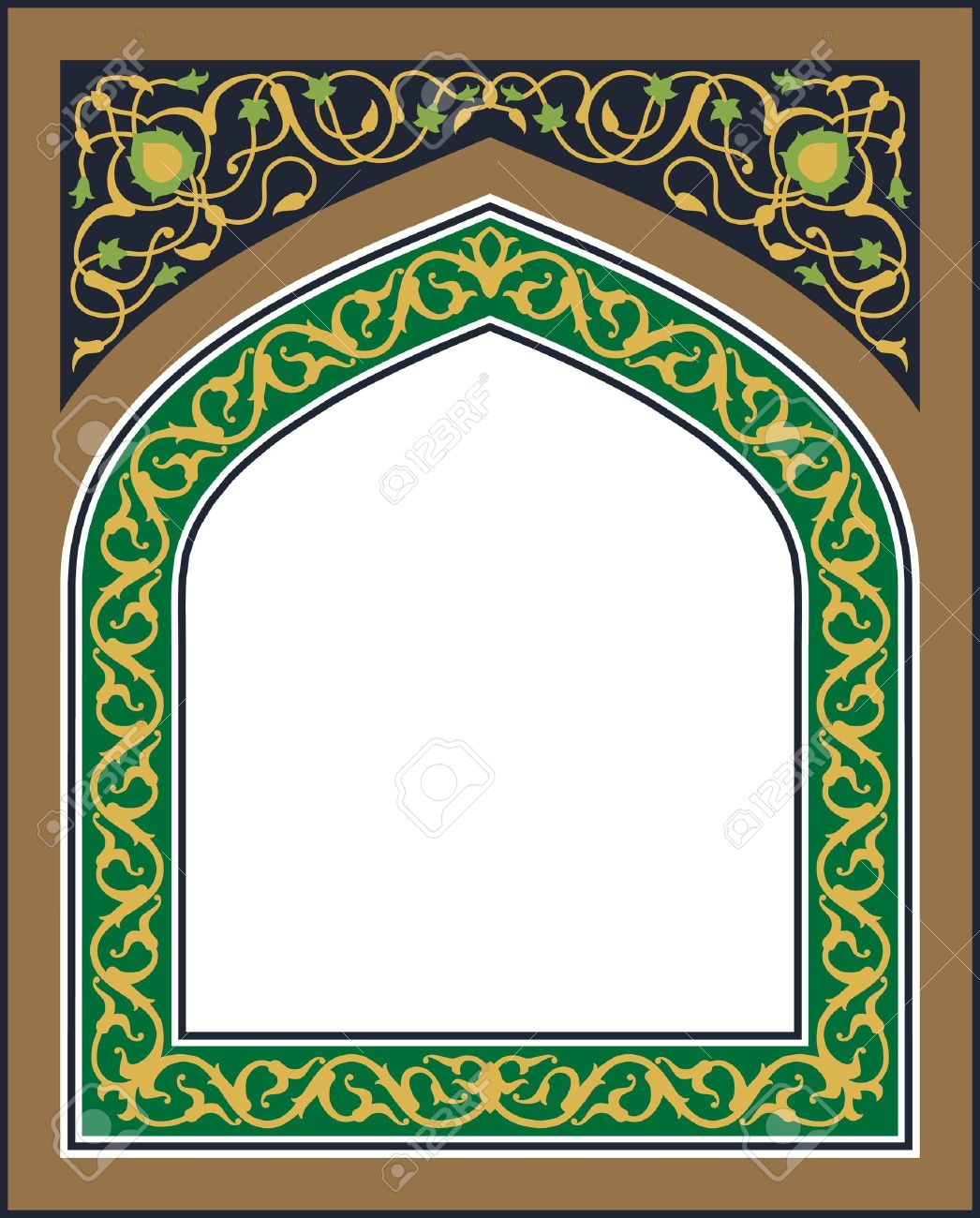 Islamic arch clipart.