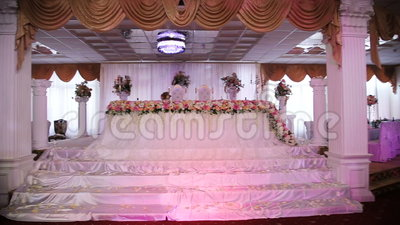 Wedding Banquet Hall Stock Video.