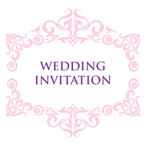 Wedding invitation label.