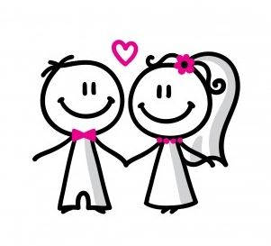People Getting Married Clipart.