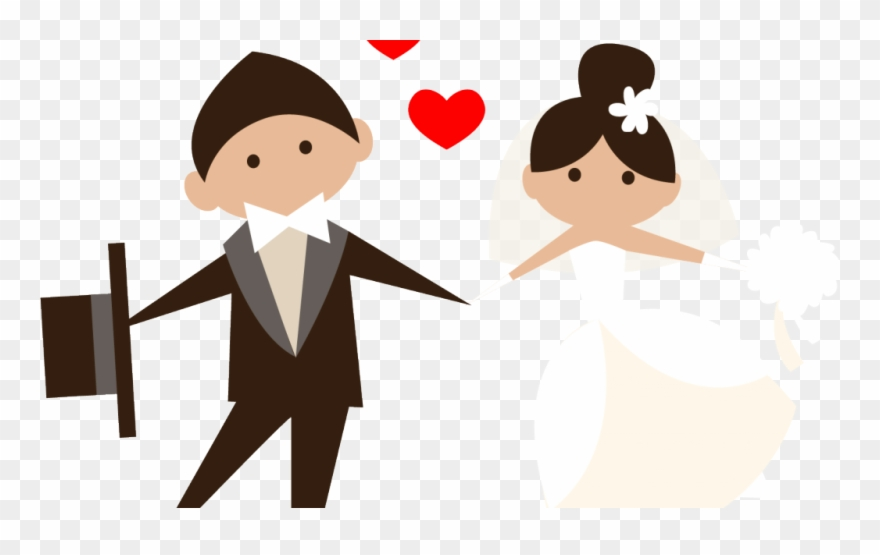 Wedding Couple Cartoon Png Clipart (#4214777).