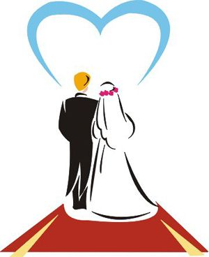 Married couple clip art.