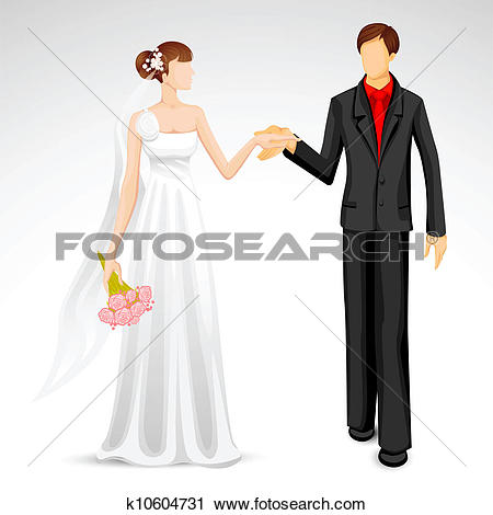 Clipart of Married Couple k10604731.