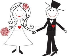 Married Couples Clipart.