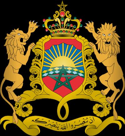 Armoiries du Maroc.