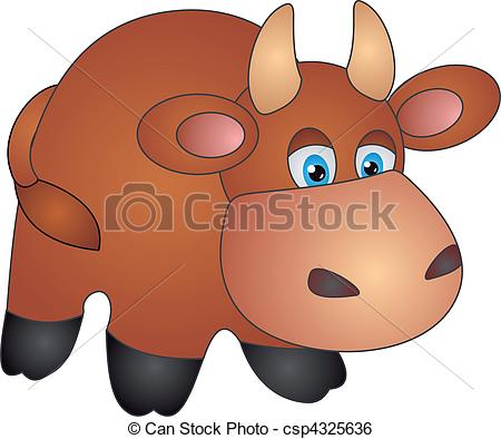 Clip Art Vector of Cow vector.