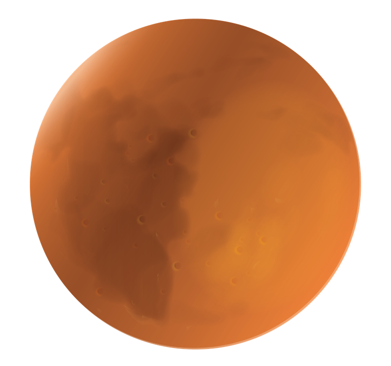 Planet Mars Clipart.