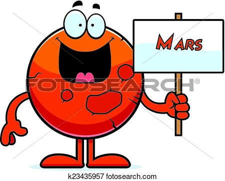Mars clip art.