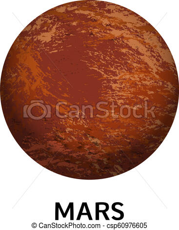 Mars planet icon, realistic style.