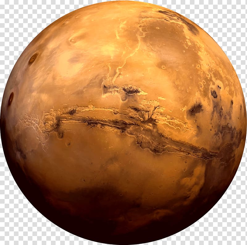 Brown planet illustration, Earth Moons of Mars Planet Valles.
