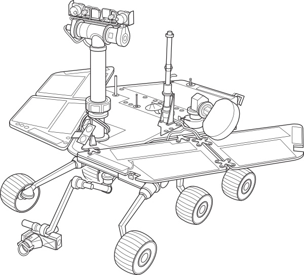 Mars Exploration Rover clip art Free vector in Open office drawing.