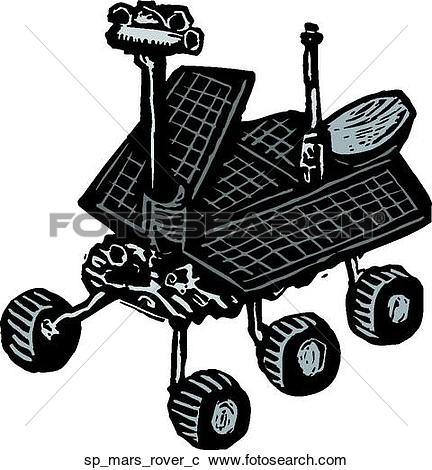 Clipart of Mars Rover sp_mars_c.
