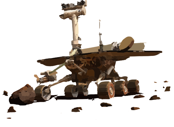 Mars rover clipart.