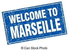 Clipart Vector of welcome to Marseille stamp csp39572153.