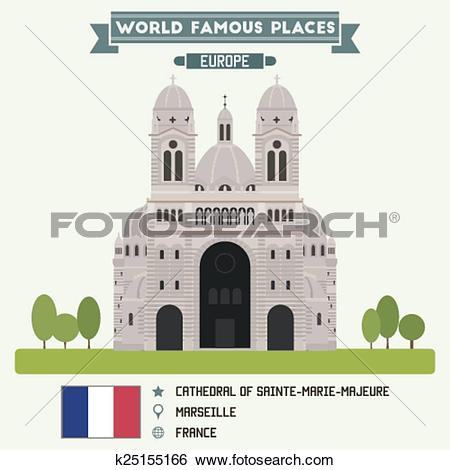 Clip Art of Cathedral of Sainte.