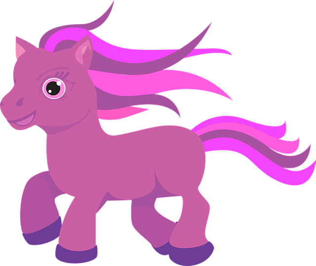 Free vector graphic: Pony, Horse, Cute, Pink, Purple.