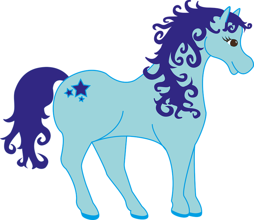 Free vector graphic: Pony, Blue, Mythical Creatures.