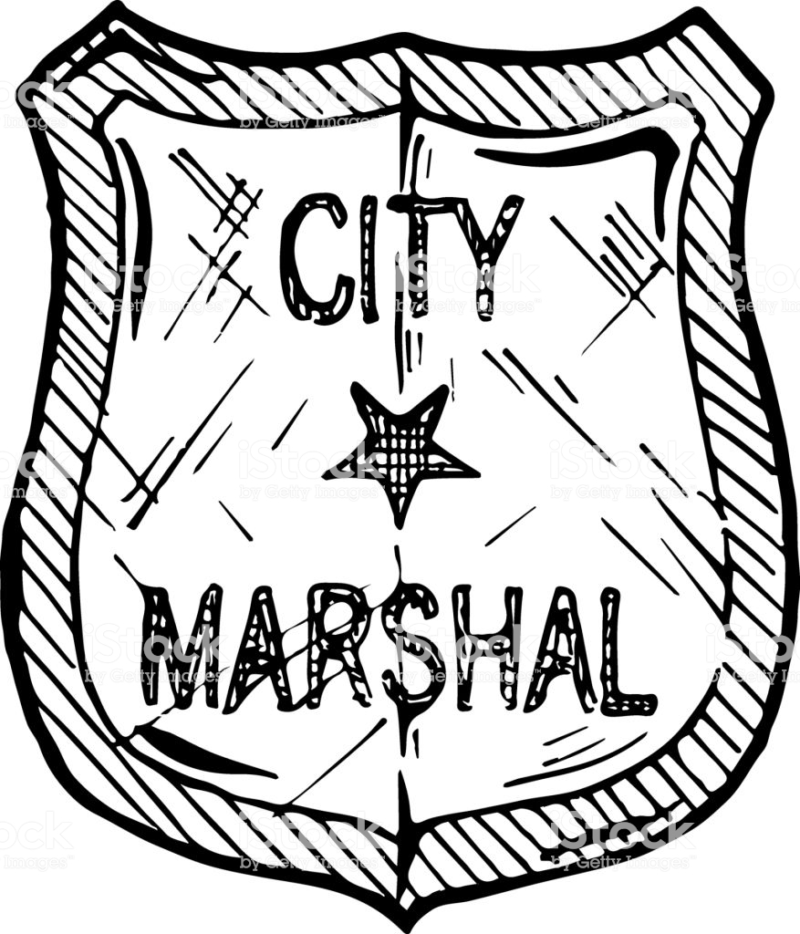 Illustration Of Marshal Badge Stock Vector Art & More Images.