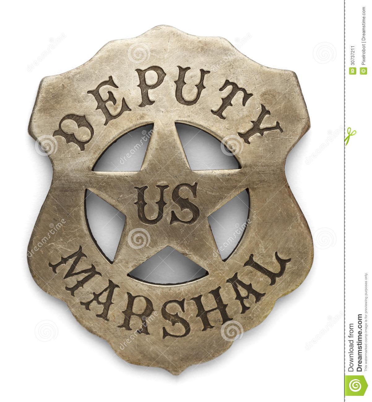Deputy Marshal Badge Stock Image.