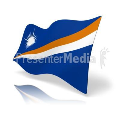 Flag Marshall Islands.
