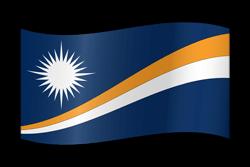 The Marshall Islands flag clipart.