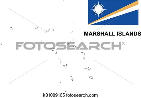 Marshall islands map clipart.
