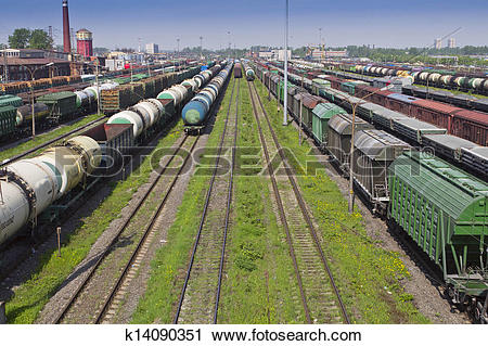 Stock Photography of marshalling yard k14090351.