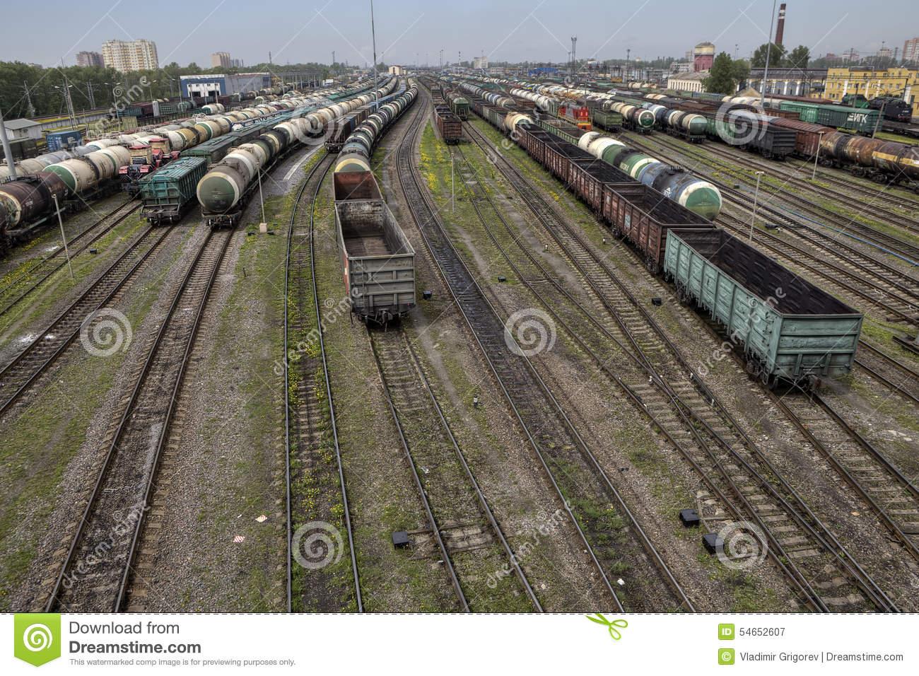 Marshalling Yard Cargo Terminal Of The Russian Railways, St. Pet.