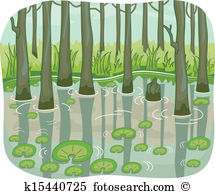 Marshland Clipart and Illustration. 18 marshland clip art vector.