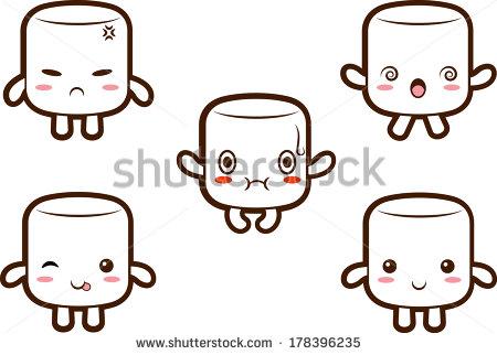 Marshmallow clip art free.