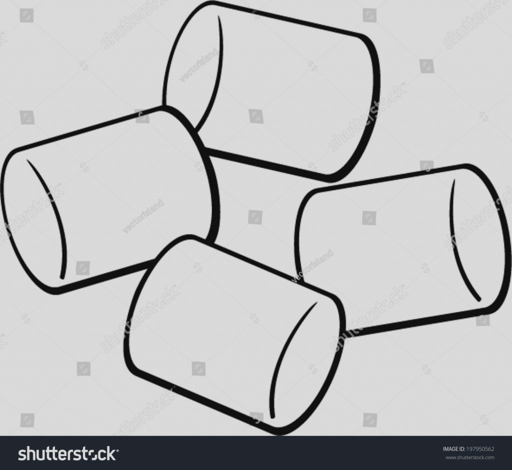 Marshmallow clipart black and white 3 » Clipart Station.