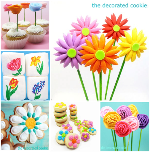 a collection of sweet treats for spring.