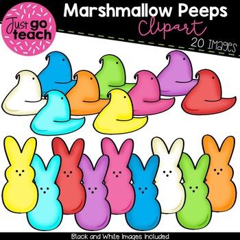 Marshmallow Peeps {Clipart}.