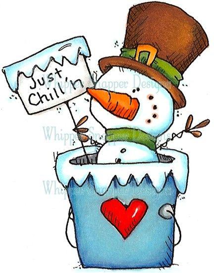 Just Chillin\' Snowman.