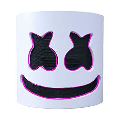 Marshmello Helmet Music Festival Marshmallow Head Mask.