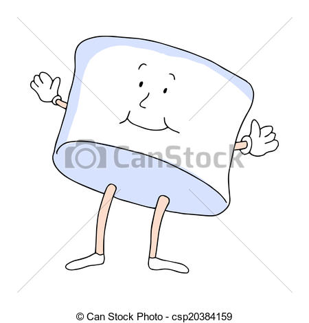 Clipart Vector of Marshmallow Man.