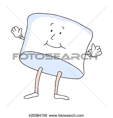 Clip Art of Marshmallow Man k20384159.